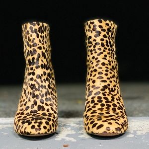 Sadie Ankle Boots in Leopard Calf Hair